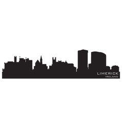 Limerick Ireland skyline Detailed silhouette vector image