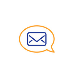 Mail line icon messenger communication sign vector
