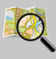 Map booklet with zoom vector
