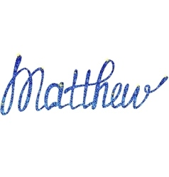 Matthew name lettering tinsels vector image