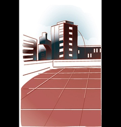 Modern office building vector