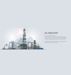 oil drilling rig banner vector image