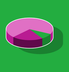 paper sticker on theme arabic business pie chart vector image