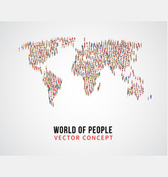 People global connection earth population on vector