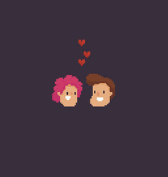 pixel art couple vector image