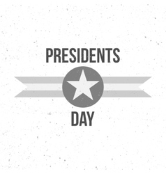 Presidents Day Sign with Text vector image