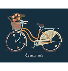 Retro bicycle for springtime vector