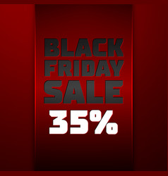 Ribbon with black friday sale thirty five percent vector