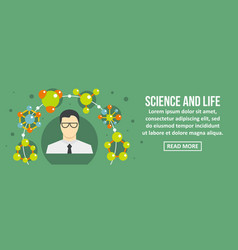 Science and life banner horizontal concept vector