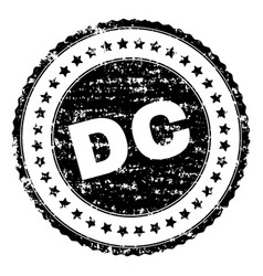 scratched textured dc stamp seal vector image
