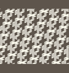 seamless geometric pattern 3d cross tiling vector image