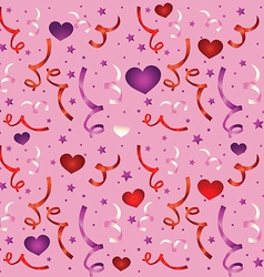 seamless love pattern with confetti vector image