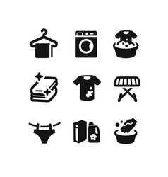 Set of laundry icons vector