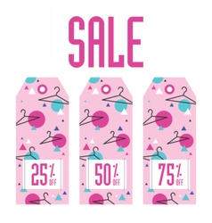Set of sale tags Different discount value vector image