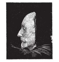 Shakespeare death mask left side vintage vector