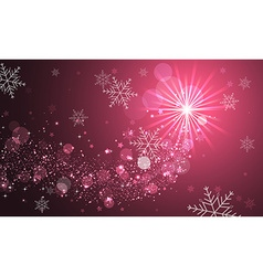 Shiny abstract background with glitter snowflakes vector