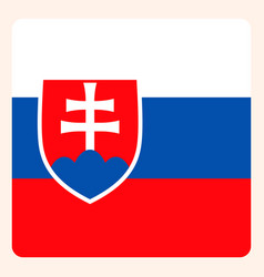 slovakia square flag button social media vector image