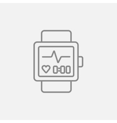 Smartwatch line icon vector image