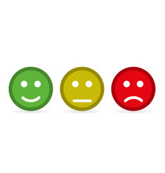 smileys flat style on a yellow background vector image