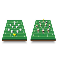soccer cup formation and tactic set vector image