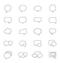 Speech Bubble Icons Line Set vector image