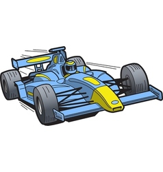 Speeding race car vector
