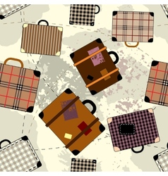 Suitcase cartoon pattern vector