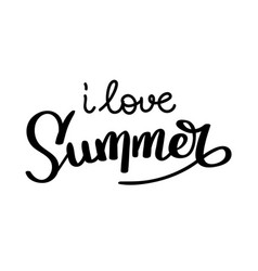 summer quote handwritten for holiday greeting vector image
