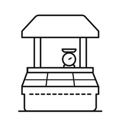 Tent and kiosk icon set of vector