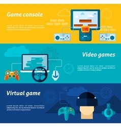 Video Game Banner Set vector