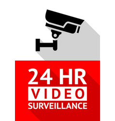 video surveillance sticker vector image