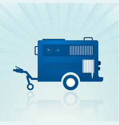 Water pump trailer vector