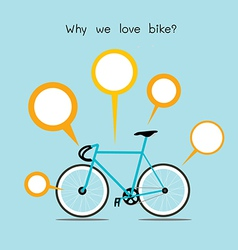 we love bike vector image