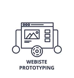 website prototyping line icon concept website vector image
