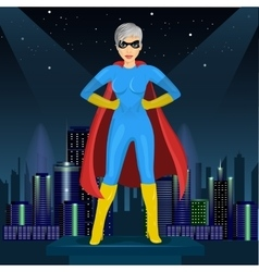 woman dressed in superhero costume vector image