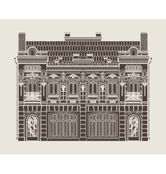 baroque house vector image
