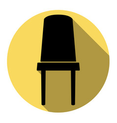 office chair sign flat black icon with vector image