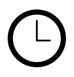 watch clock time minute line vector image