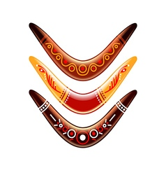Boomerang isolated on white vector image vector image