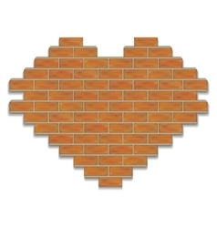 Brick heart vector image
