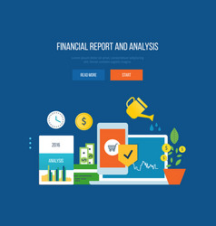 finance financial reporting analysis planning vector image