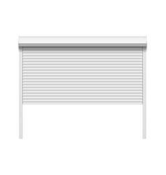garage door with rolling shutters vector image