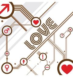 love design background vector image vector image