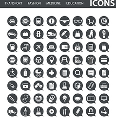 Set of web icons in speech clouds vector image vector image