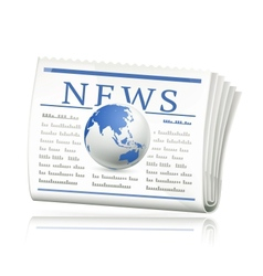 World news icon vector image