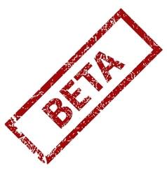 Beta grunge rubber stamp vector image