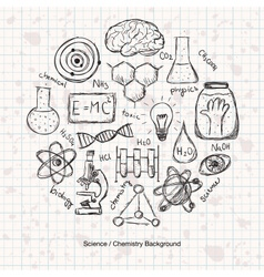 Chemistry Science Background vector image vector image