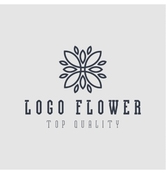 Logo abstract flower flat style vector image