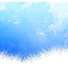 Sky Bird Silhouette Watercolor vector image vector image