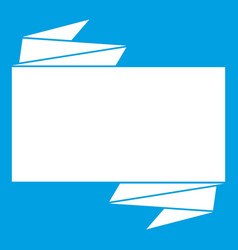 black banner icon white vector image
